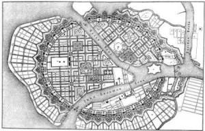 Ce qui pourrait être un plan, une ville.