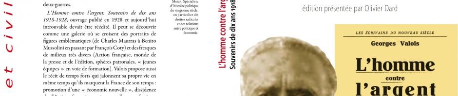 Nos enseignants publient : Georges Valois