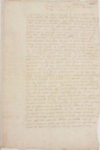 Lettre à Guillaume Budé, 1521, BNF, Département des manuscrits, NAF 27237 1.