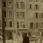 AD13_5 Fi 474. Marseille. Démolition du quartier de la Bourse pour sa rénovation, 4 mars 1913.