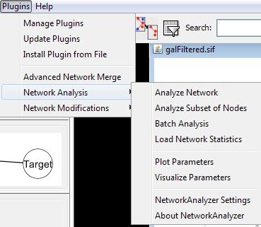plugins du logiciel cytoscape