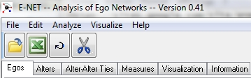 fenêtre principale E-Net