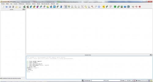 Exemple de test du fonctionnement de IGraph sous QGIS via la console Python.