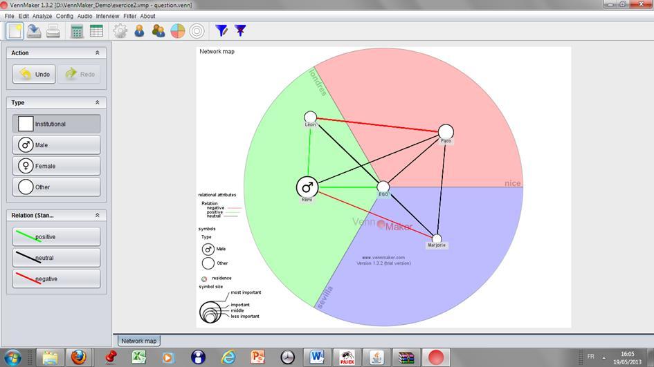 Capture d'écran VennMaker