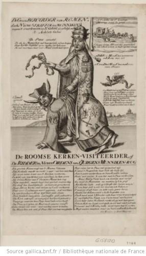 El Papa a caballo sobre un jesuíta