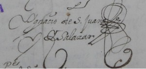 Firma autógrafa de Ignacio de San Juan Salazar