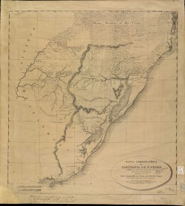 Mapa de la Capitanía de San Pedro. José de Saldaña, 1801
