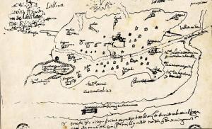 Uno de los mapas dibujado por don Diego de Torres