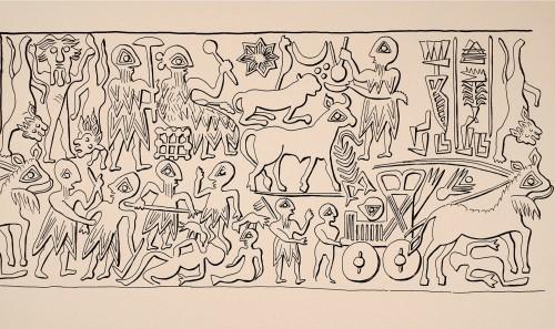Sceau de Ishqi-Mari, roi de Mari (D. Beyer, dans KTEMA 29, 2004: 43, fig. 5a)