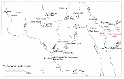 Fig. 1 : Carte de la Mésopotamie du Nord.