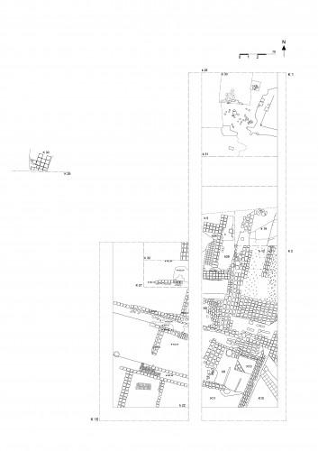 Fig. 11 :  Chantier B, plan général.