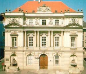 Fig. 1 : l'Académie autrichienne des Sciences, dessinée par l'architecte Lorrain Jean Nicolas Jadot de Ville-Issey et édifiée en 1753-55.