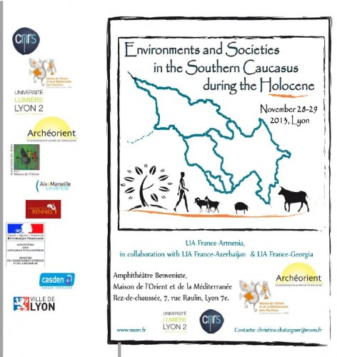 Fig. 2: Poster of the LIA conference: 'Environments and Societies in the Southern Caucasus during the Holocene'