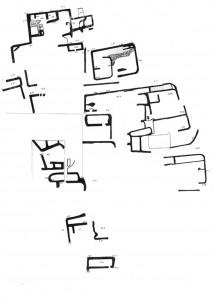 Figure 7. Plan des structures architecturales d'époque islamique (d'après Mearaj 2012, fig. 2)