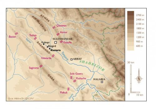 Fig. 1 : carte de la vallée du Tanjaro (Hélène David-Cuny).