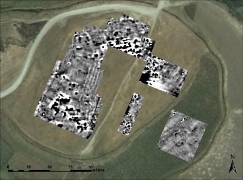 Fig. 3: carte magnétique de la ville basse de Kunara (Christophe Benech).