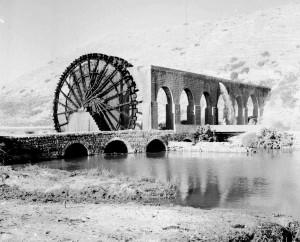 Fig.6a : Noria à Al 'Asharinah en 1932 (©IFPO)
