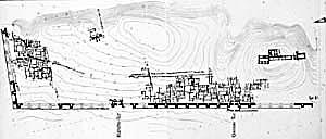 Fig. 2. Plan de Habuba Kebira (d'après Strommenger 1980, intérieur de couverture)