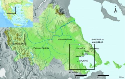 Fig. 1 : Carte de localisation des sites évoqués