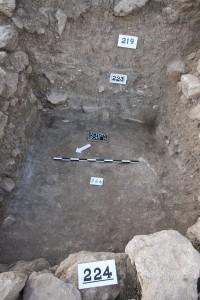 Fig. 13 : la pièce carrée au centre du système de fortification.