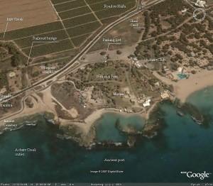 Fig. 2 : vue aérienne de Tel Achziv.