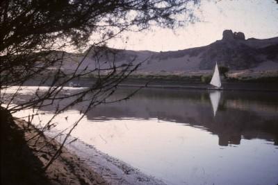 Fig. 2 : Forteresse de Mirgissa vue depuis la rive droite du Nil.