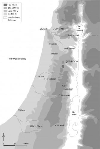Fig. 1 : Carte du Levant Sud avec les sites mentionnés