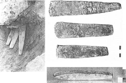 Fig. 5 : Mezer, lames (Dothan 1959, pl. 37)