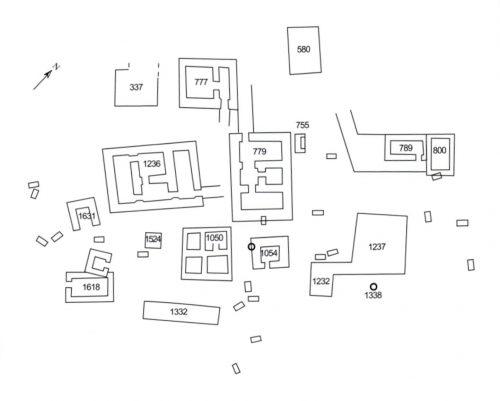 Fig. 2 : Plan des Tombes Royales, Cimetière Royal d'Ur (Lazzarini C. 2011)