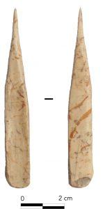 Fig. 9 : Poinçon en os des niveaux chalcolithiques. © Mission Caucase.