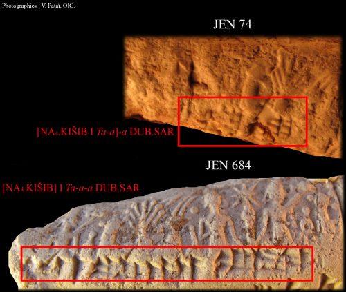 Fig. 5 : Le sceau Po 10 apposé sur JEN 74 et JEN 684 par Taya fils d'Apil-Sîn, © V. Pataï.