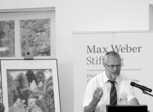 """Stiftungspräsident Prof. Dr. Dr. h. c. Heinz Duchardt auf der """"Max Weber in der Welt"""" Tagung"""