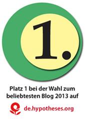 Blogaward Platz1  Plakette