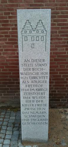 Germany-Kiel-Buchwaldscher-Hof-Saule