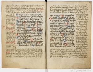 AM 16 8vo, ff. 17v/18r, nach 1488. Abgebildet mit freundlicher Genehmigung von Den Arnamagnænske Samling, Kopenhagen.