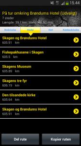 Screenshot der App 1001 fortællinger om Danmark