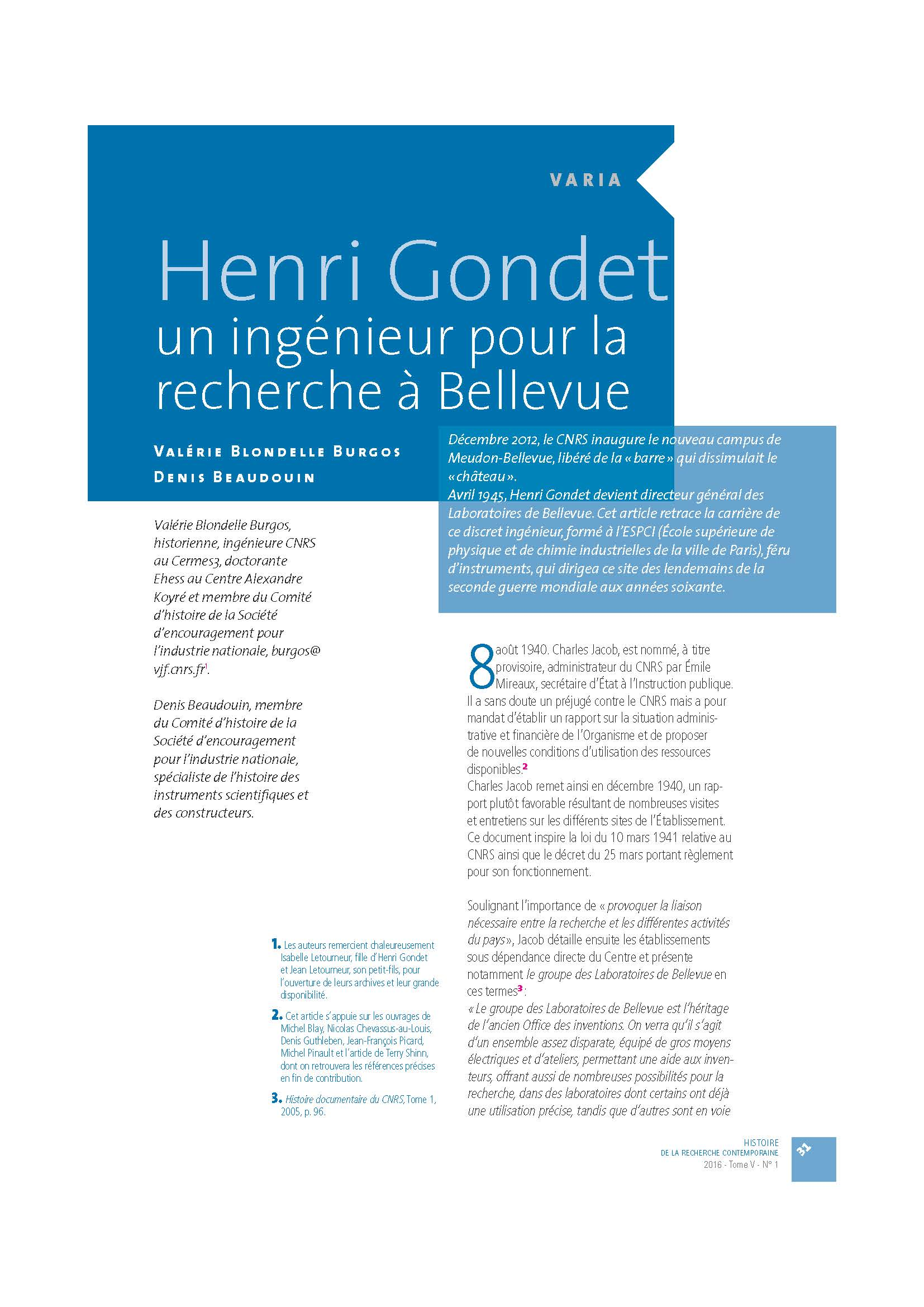 Henri Gondet par Burgos-Beaudouin