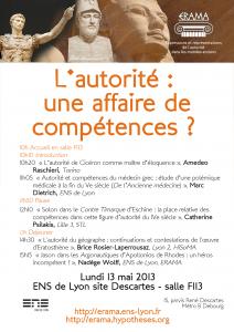 L'autorité : une affaire de compétences? 13 mai 2013, 10h-16h30