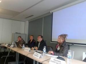 Rencontre du 04 avril 2012 « L'exil comme aventure culturelle, l'exil heureux ». Matéi Visniec, Aurélia Klimkiewicz,  Elena Prus.