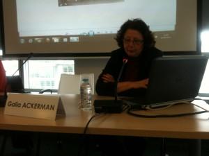 """Rencontre du 06 juin 2012 : """"L'exil tchernobylien et les sauveurs du patrimoine"""". Galia Ackerman, Elisabeth Anstett, Virginie Symaniec."""