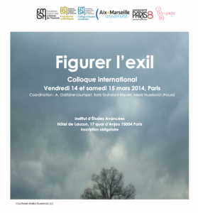 Figurer l'exil. Colloque international 14-15 mars 2014. Programme et intervenants