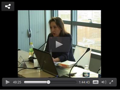 Mise en ligne. Marie Darrieussecq. L'expérience de l'exil (séance du 13 mars 2014)