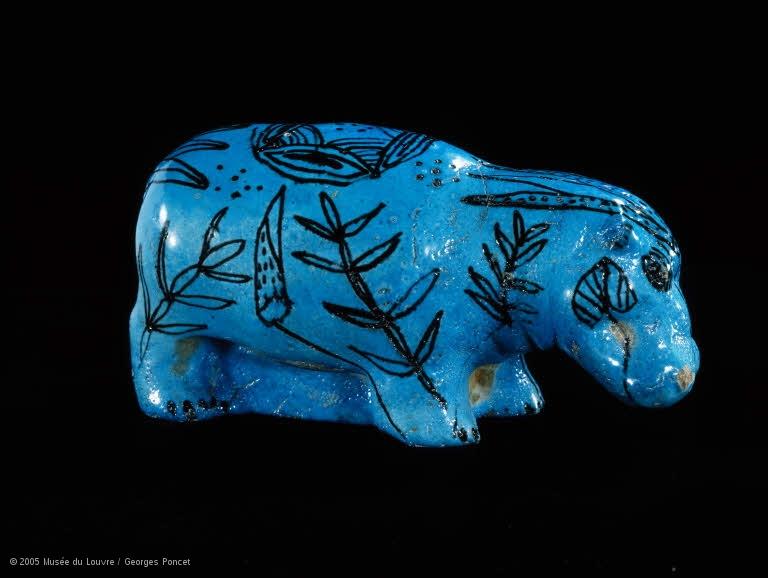 Figurine d'hippopotame, © 2005 Musée du Louvre / Georges Poncet