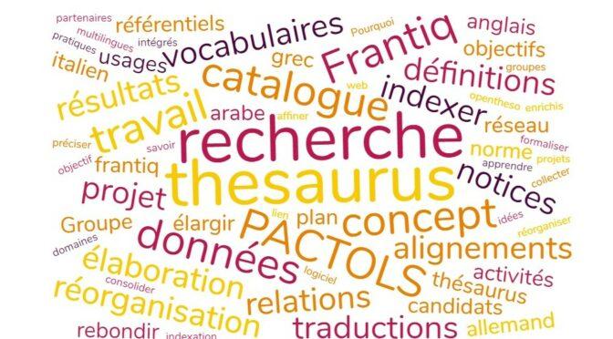 Le point sur le thésaurus PACTOLS