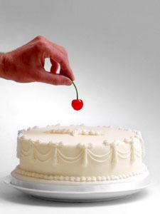 Une cerise sur le gâteau