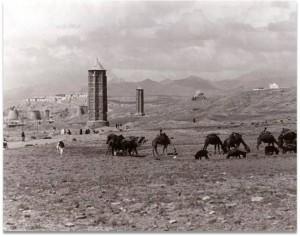 Ghazni : vue sur la plaine du Dasht-i Manara et les minarets de Ma'sud III et Bahram Shah © IsIAO