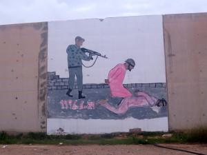 Dans l'enceinte de prison d'Abou Salim (Tripoli) évocation du massacre du 29 juin 1996