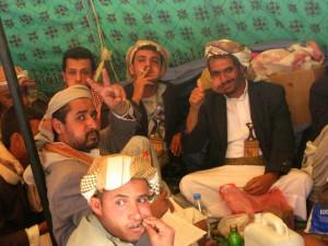 """Sous les tentes de la  """"Place du Changement""""<br />""""Pas de parti, pas de système partisan, notre révolution est celle de la jeunesse"""" © M. Al Salahi, 2014"""
