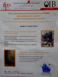20140417 Séminaire IFPO - SHS en contexte de conflit