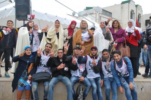 Militants marzoukistes, Bab Souika, Tunis, 9.11.2014, © Taoufik Ben Sassi